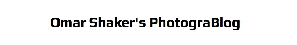 Omar Shaker's PhotograBlog