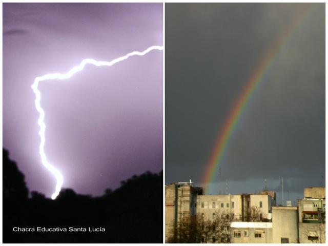 Rayos y arcoiris - Chacra Educativa Santa Lucía