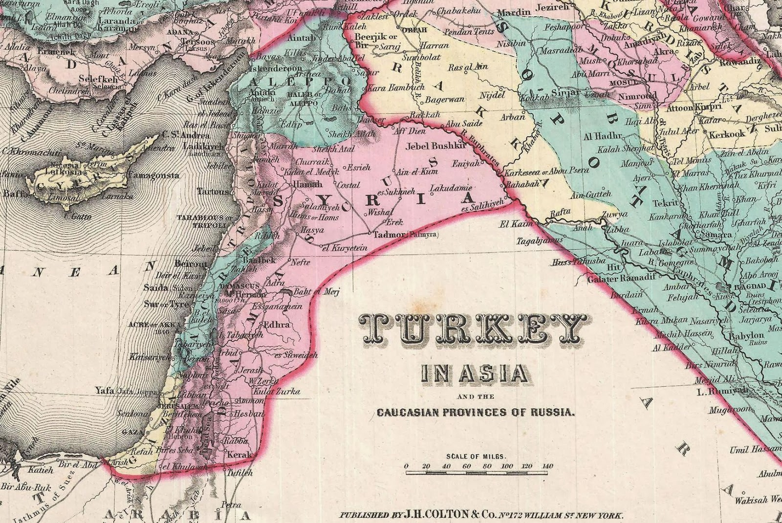Afternoon Map Maps Of Syrias History - Map of syria and turkey