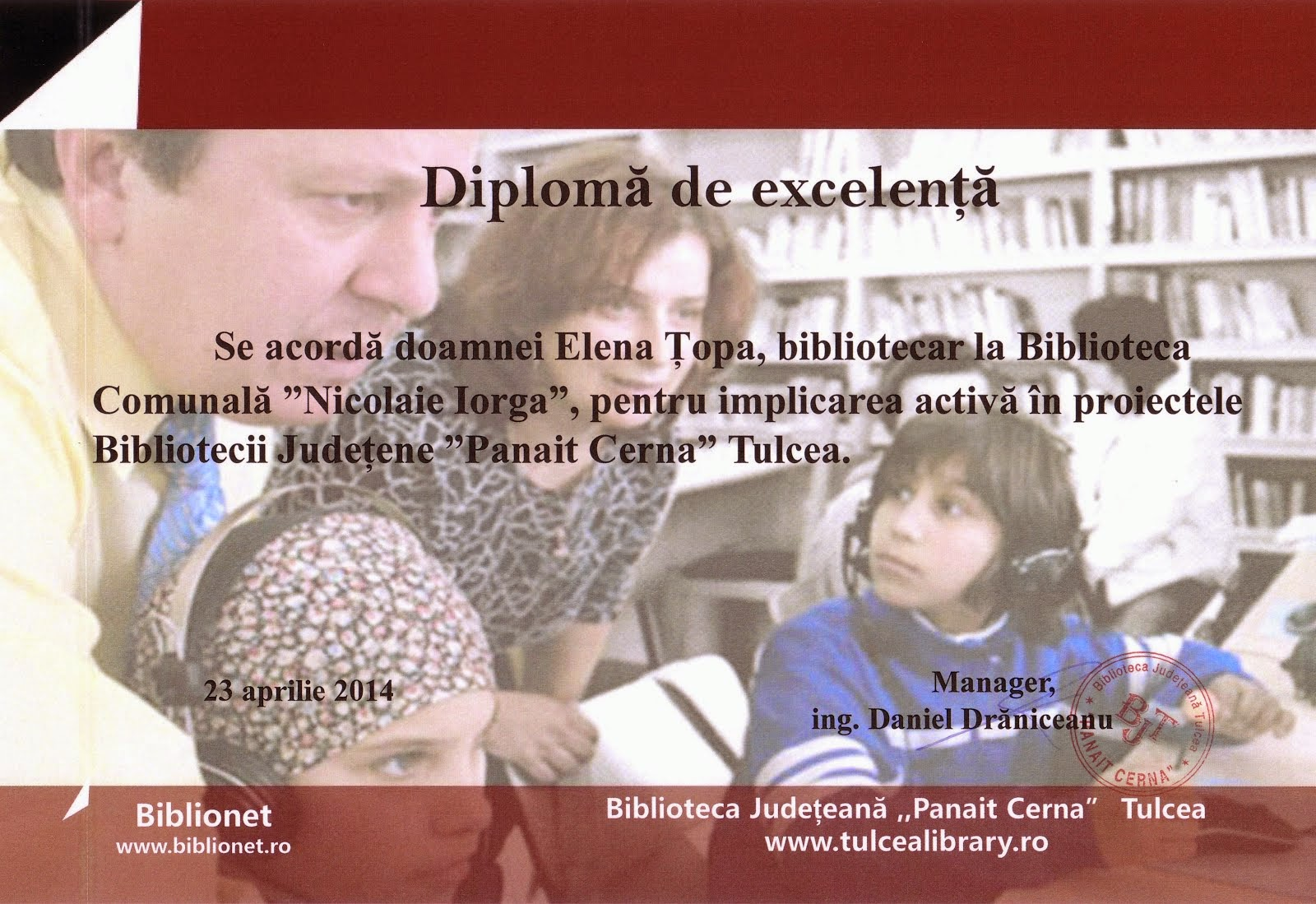 Bibliotecar Elena Ţopa