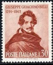 1963- Francobollo emesso dallo Stato ital.  per il 100° anniversario della scomparsa