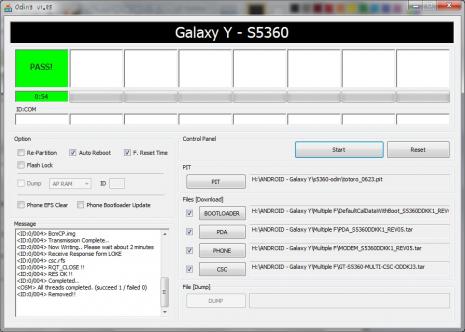 Cara Flashing, Upgrade atau Update Firmware Samsung Galaxy Young