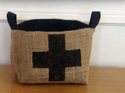 basket from coffee sacks