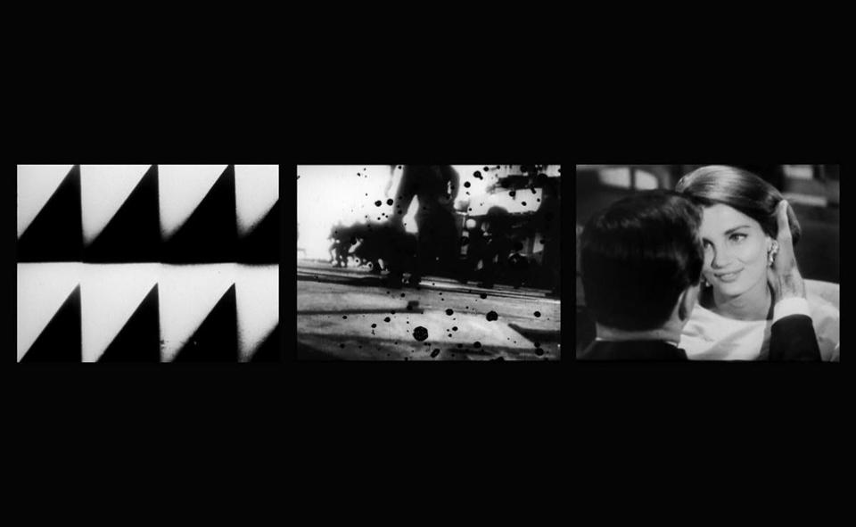 EVE-RAY-FOREVER is a three screen, silent, projected black-and-white film, ...