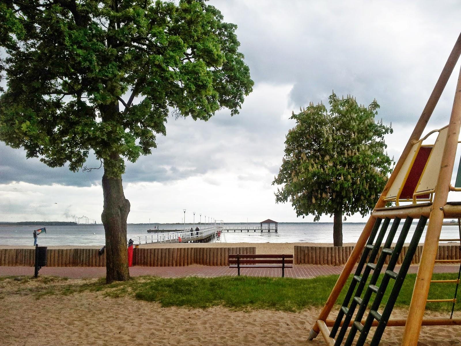 Polskie morze,Stepnica,plaża w Stepnicy