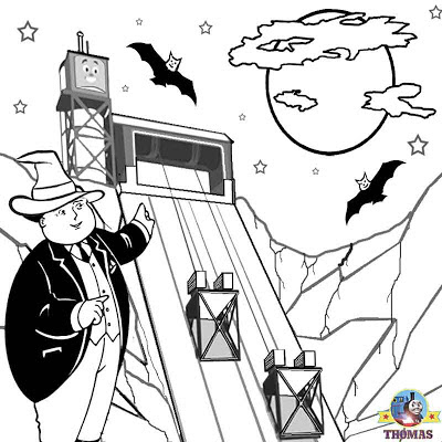 Thomas blue mountain mystery bats Free Halloween coloring pages printable pictures to color for kids