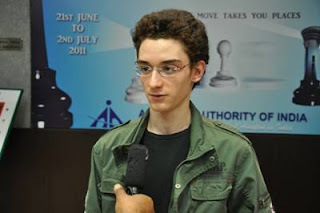 Echecs à New Delhi : Fabiano Caruana (2714) © site officiel