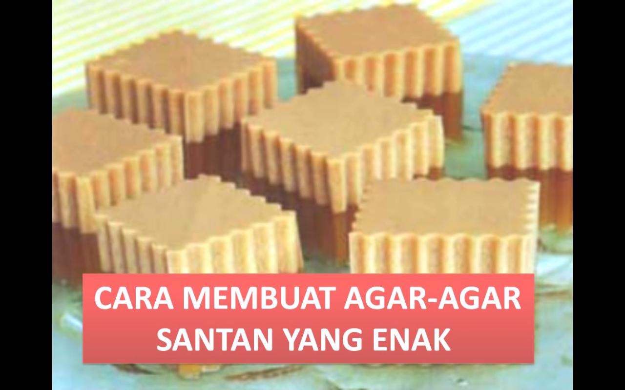 how to make agar agar santan