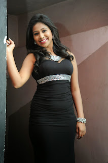 Mi Rathod in Spicy Tight Black Gown Lovely Beauty Spicy Pics