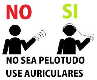 El uso de auriculares. No+sea+pelotudo