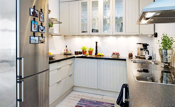 Whitewings interiors small kitchen designs decoration Decorating ideas for small apartment kitchens