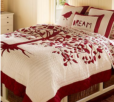 Vintage pearl designs christmas inspired bedding will bring you cheer even while you sleep - Pottery barn holiday bedding ...