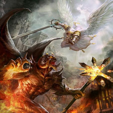 angels and demons battle art - photo #43