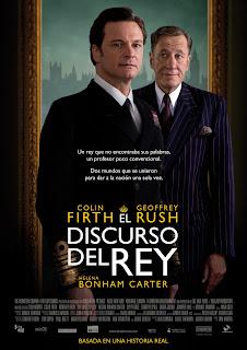 Cartel oficial de la película El discurso del Rey