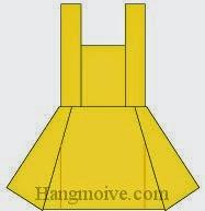 Bước 10: Hoàn thành cách xếp váy bó thân bằng giấy theo phong cách origami.