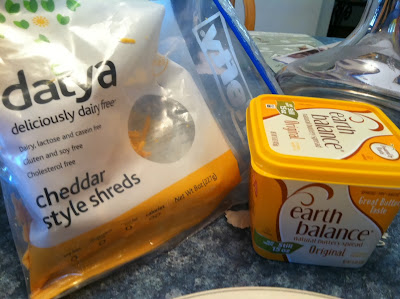 daiya cheddar style shreds and earth balance spread