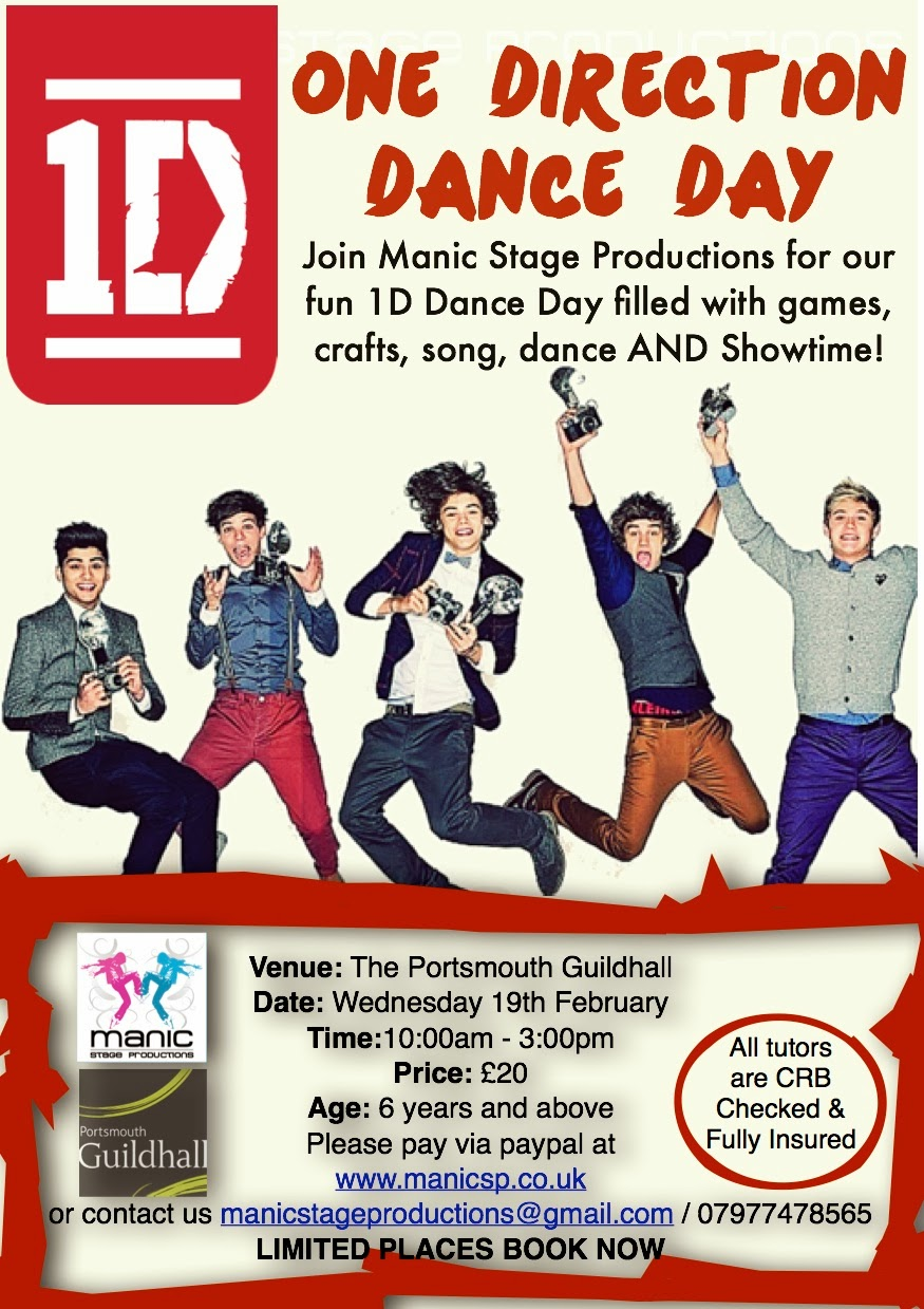 Kids Half Term One Direction Dance Day!