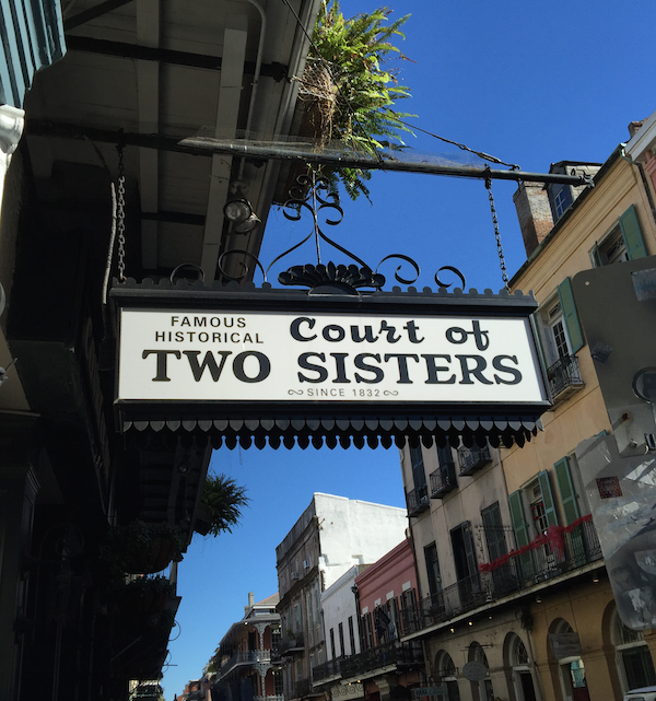 The Court of Two Sisters in the French Quarter of New Orleans