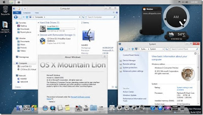 Windows 8 Using Mountain Lion Style