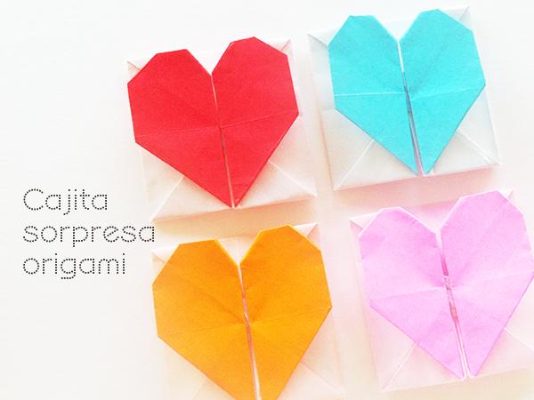 Manualidades: Corazón de papel y caja sorpresa