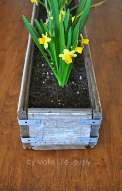 DIY Rustic Wood Flower Box My Decor Home Ideas