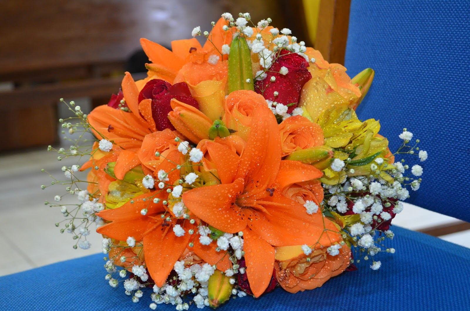 Buffet e Decorações: Decoração para casamento Laranja e Branco #C23F09 1600x1059 Banheiro Branco E Laranja