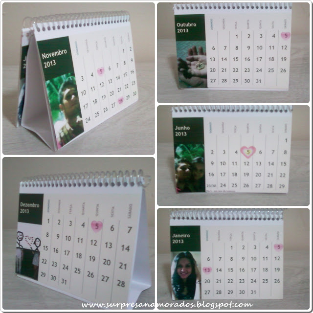 calendário para namorado