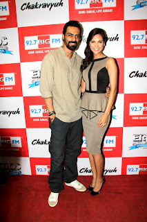Arjun Rampal & Esha at  'Chakravyuh' Audio launch on 92.7 BIG FM