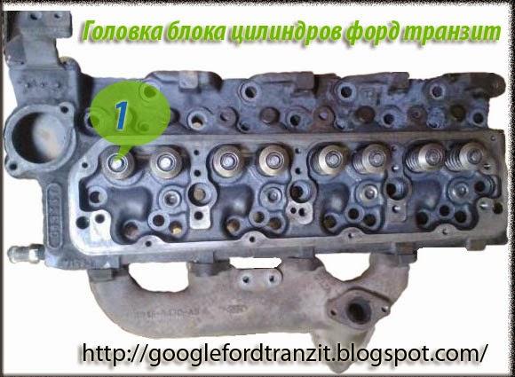 схема снятия головки блока цилиндров форд транзит