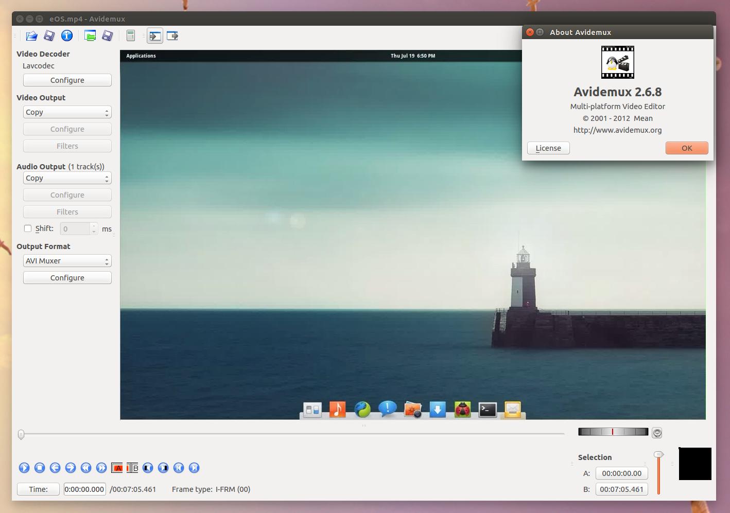 Avidemux 2.6.8 Ubuntu