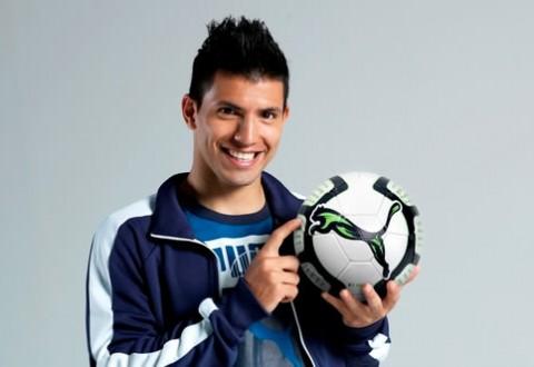 Sergio Aguero Profile 2012 Wallpaper