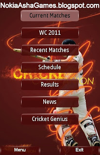 Cricket Companion Application Download for Nokia Asha 301 206 phone