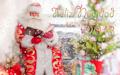 Santa Claus leyendo un cuento de Navidad
