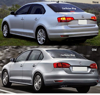 Rear Comparison VW Jetta Facelift - New vs Old