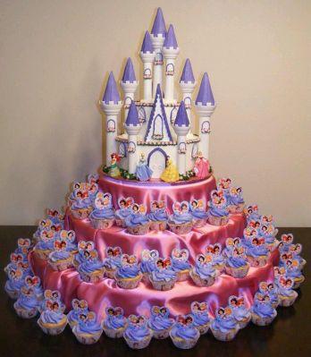 cupcakes o magdalenas de las princesas de disney para fiestas infantiles parte