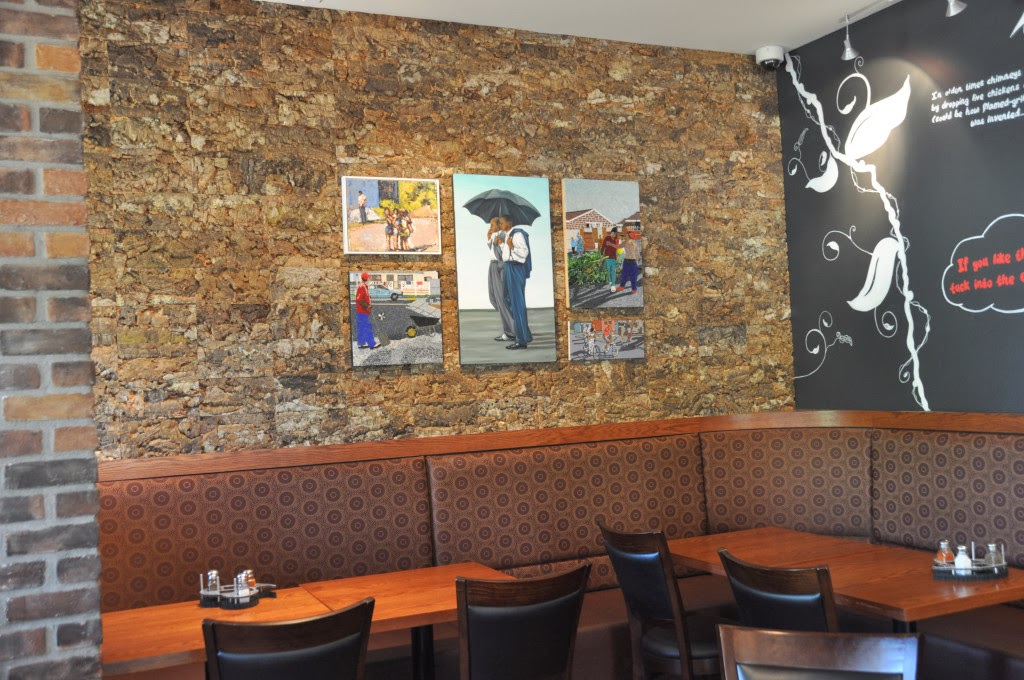 Cork Tiles Add A Unique Blend Of Style And Texture To The Restaurant Walls Product Natural Top Wall