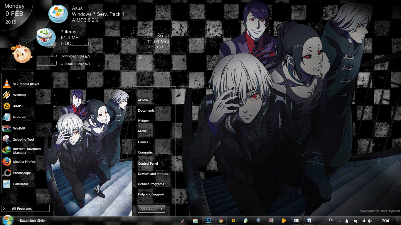 Tokyo Ghoul S2 Win 7 Theme