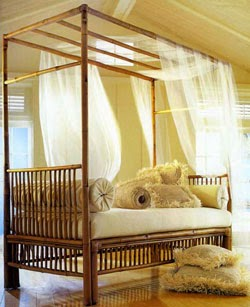 beautiful daybed using bamboo