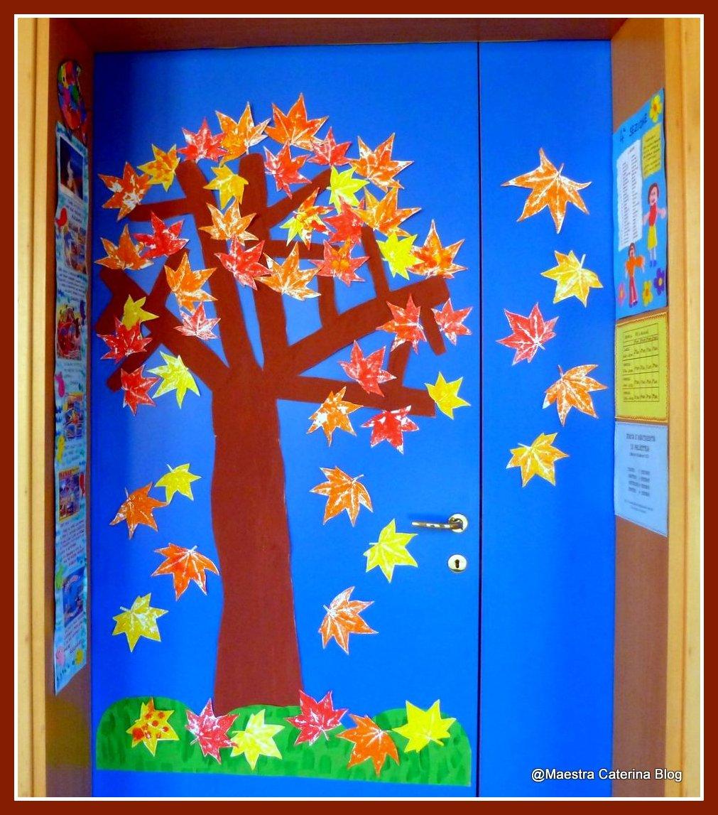 Maestra caterina porta d 39 autunno for Addobbare la porta dell aula