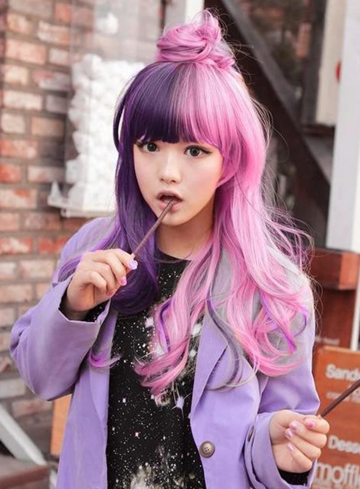 New Hairstyle Hairpunk Fashions Harajuku Asian Girls Long Hairstyle