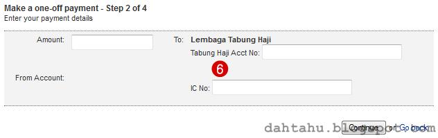 Maybank2u Maybank Transfer ke Tabung Haji 1-6