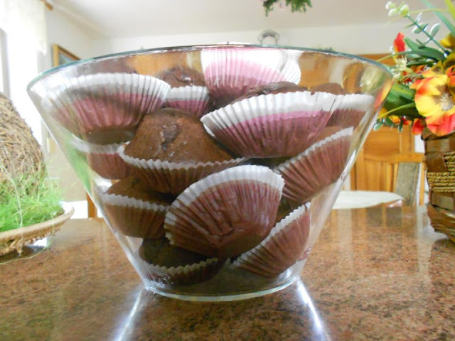 muffinki czekoladowe, babeczki czekoladowe, muffinki z kakaom mlekiem, pyszne muffinki