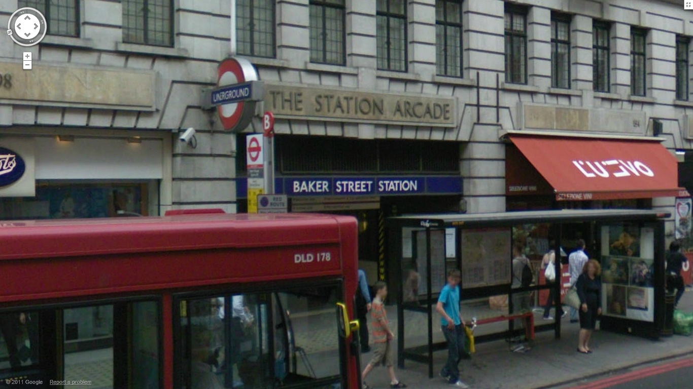 Baker Street station on the Bakerloo line of the London Underground