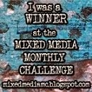 Mixed media monthly challenge winner