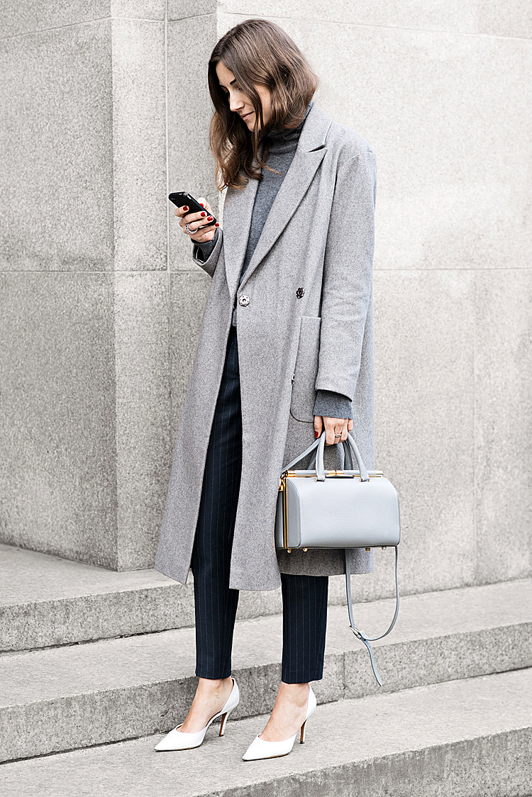 Street style white heels