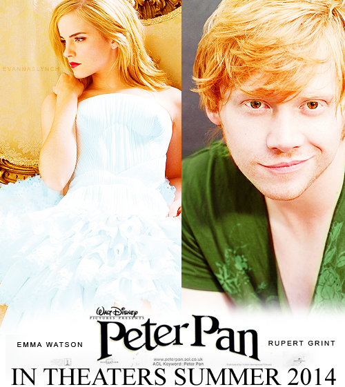 Rupert Grint and Emma Watson in Peter Pan on 2014 ...