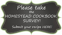 The Homestead Cookbook Survey