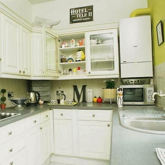 15 fotos de cocinas peque as colores en casa - Cocinas pequenas cuadradas ...
