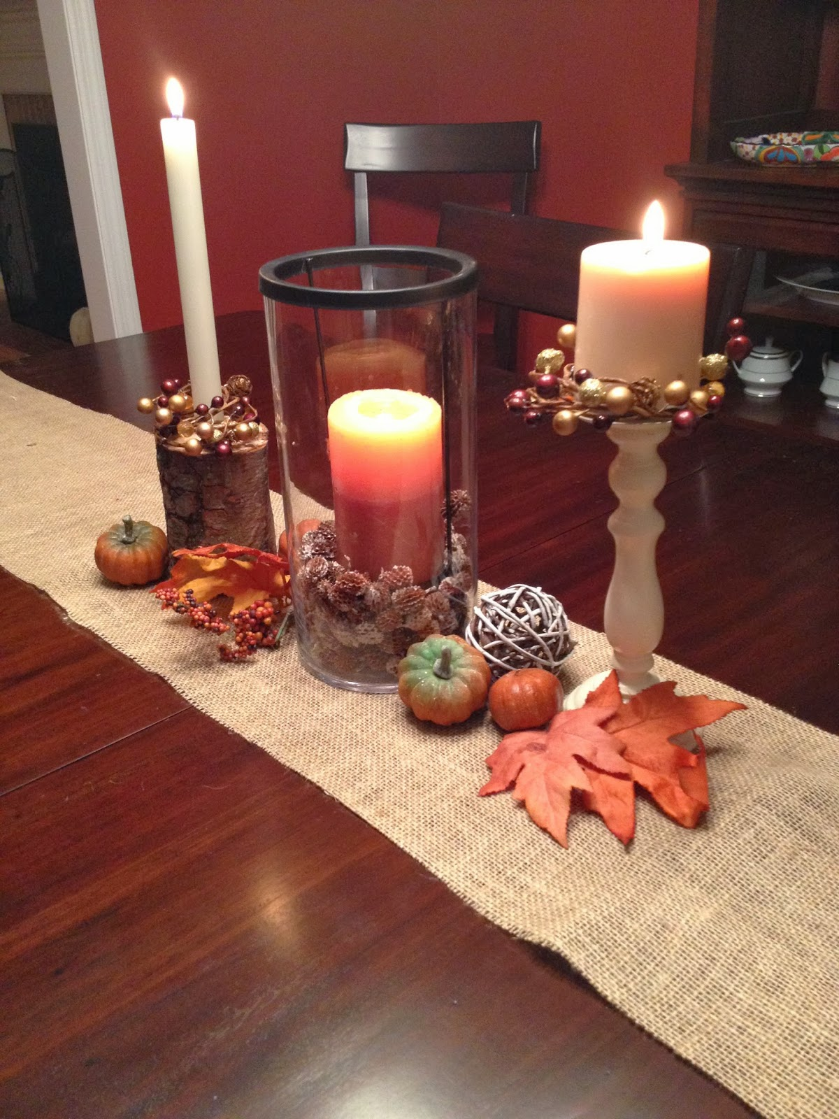 Two it yourself fall home tour 10 diy fall decorating for Homemade fall decorations for home