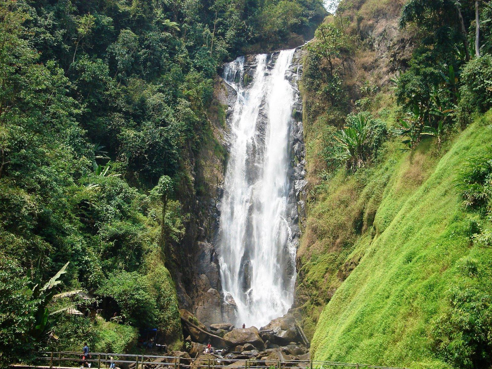 Objek wisata curup tenang bedegung merupakan air terjun tertinggi